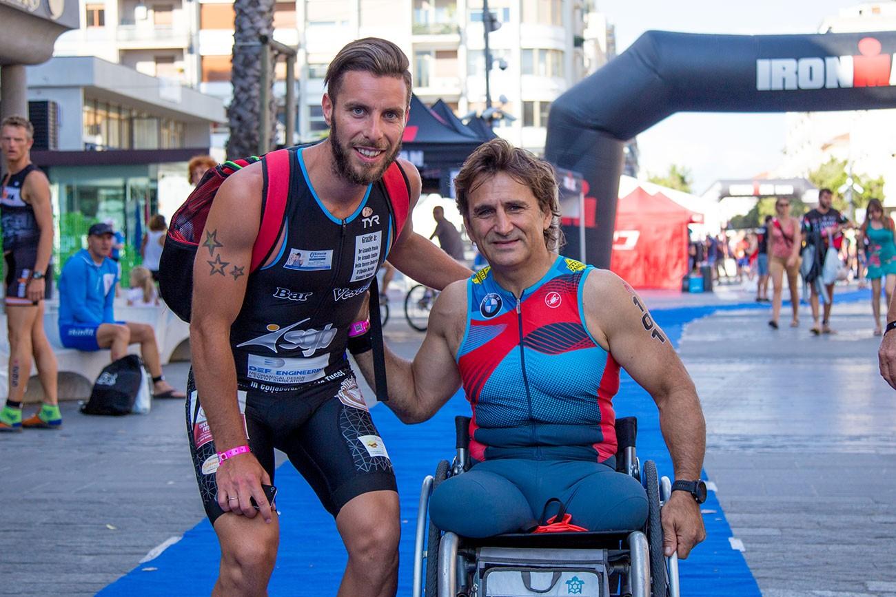 Alex Zanardi e Lorenzo D'Andrea Ironman ISAV